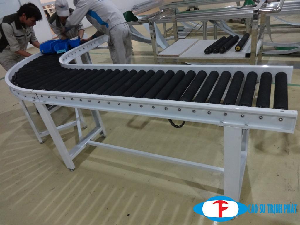 Ứng dụng của con lăn cao su trong sản xuất